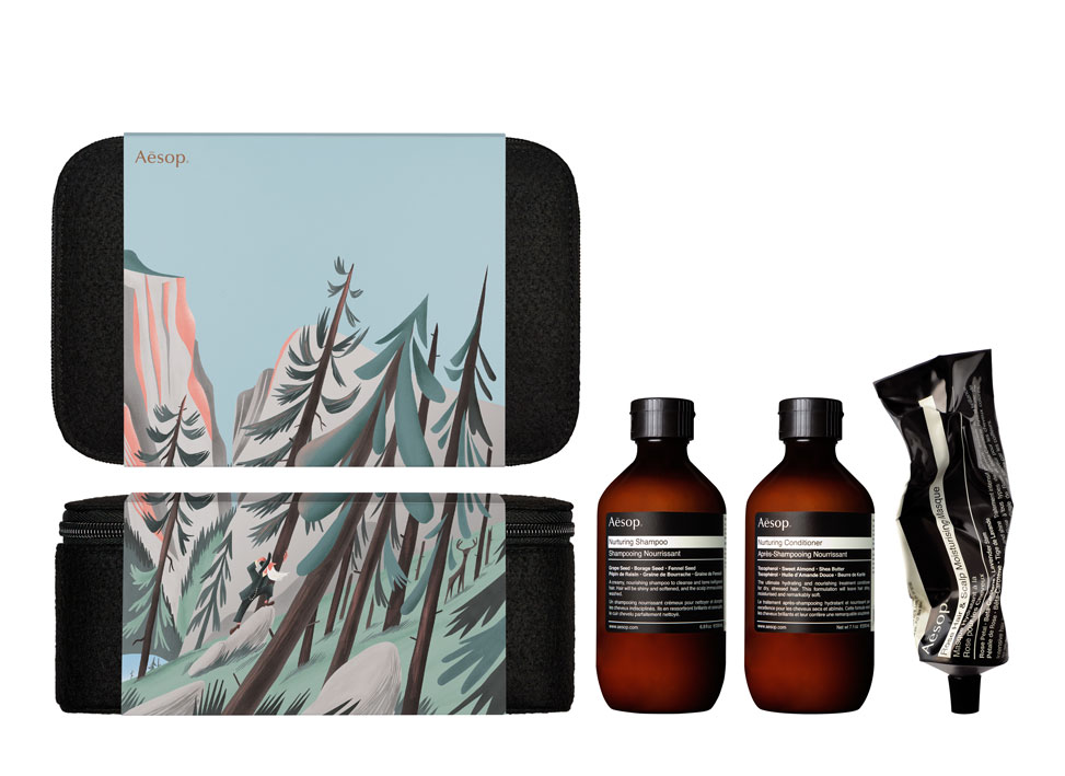 AESOP GIFT KITS 2016 2017 IMPASSIONED WANDERER WITH PRODUCT 1 C